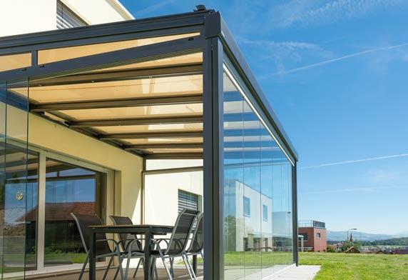 uberdachungen und vordacher aus metall und glas dries With markise balkon mit tapete kupfer metallic